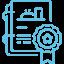 Icon menu CFJ bleu droit