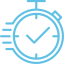 Icon chrono CFJ bleu droit
