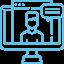 Icon visio web CFJ bleu droit