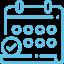 Icon calendrier CFJ bleu droit