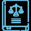Icon livre de droit CFJ bleu droit